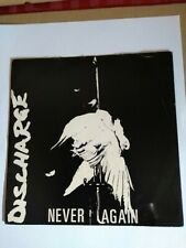 """Discharge Never Again  7"""" Vinyl Record Anarcho Punk UK82 1981 Clay 6 EX / VG+"""