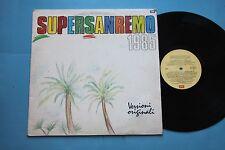 SUPER SANREMO 85 LP- ZUCCHERO BAGLIONI GARBO GRAZIANI CHAMPAGNE MOLOTOV SPANDAU