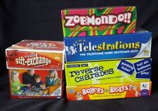 Lot of 5 PARTY / FAMILY GAME NIGHT Board Games 100% COMPLETE VGUC with 2 NEW