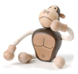 ANAMALZ GR2010: Gorilla, Collectable Wooden Toy NEW