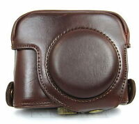 Camera Leather Case Pouch For Canon PowerShot G15 camera