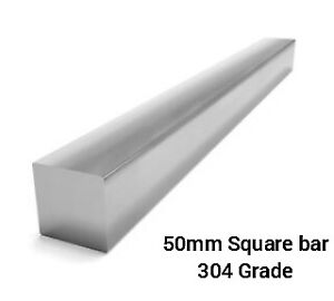 50mm square Stainless Steel solid Bar. 304 grade.