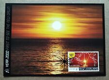 2000 New Zealand Millennium - 1st to see the New Dawn Sunrise 1v Stamp Postcard
