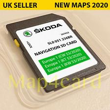 Latest SKODA GEN2 MIB2 Amundsen2 SD Card Sat Nav Map UK and Europe 2020 - 2021