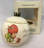 """1983 Hallmark Keepsake UNBREAKABLE Satin Ornament """"CHRISTMAS JOY"""" Vintage NIB"""