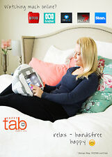 HAPPYtab iPad cushion tablet pillow beanbag stand accessory thing - Amalfi Grey