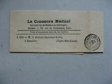 FRANCE, stampless wrapper Le Concours Médical 1898
