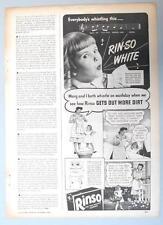 Original 1944 RINSO Photo Endorsed Ad 4 Year Old Marguerite Jones Sunnyside NY