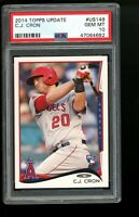 2014 Topps Update #US149 C.J. Cron Angels Rookie Card RC PSA 10 GEM MINT