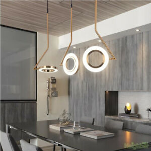 Modern Golden Rotatable ring Chandelier LED Single Pendant lamp Ceiling light
