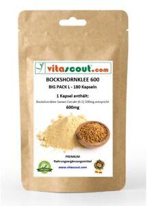 Bockshornklee Fenugreek Extrakt aktiviert 180 Kapseln á 600mg Made in Westeuropa