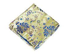 Lord R Colton Masterworks Pocket Square Belvoir Garden Yellow Blue Silk New