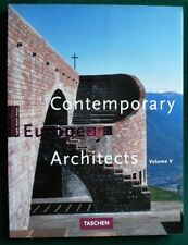 Contemporary Europeane Architectes  1997 Francais Allemand Anglais Jodidio