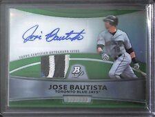 2010 Bowman Platinum Green Refractor Patch Autograph #PAR-JBA Jose Bautista