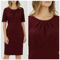 Precis Petite Plain Burgundy Ponte Dress RRP £89 Sizes 8 to 18