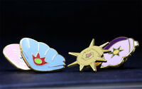 Complete set of 4 Gold Orange Islands Gym Leader Badges Lapel Pins | Pokemon