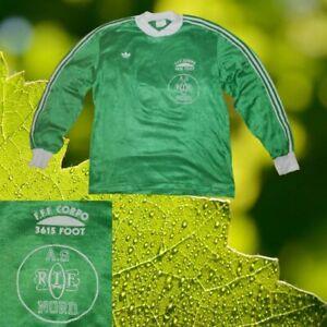 BRILLANT GREEN ADIDAS VINTAGE LONG-SLEEVED FOOTBALL SHIRT POLYAMID SIZE M