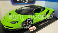 Maisto 1:18 Scale - Lamborghini Centenario Green - Diecast Model Car