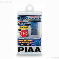 H-225E PIAA XTREME WHITE W21W 582 T20 Wedge Bulbs Capless 27W (7440) #19225