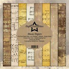 New Dixi Craft  Paper Favourites 15cm x 15cm Paper Pad Music Papers