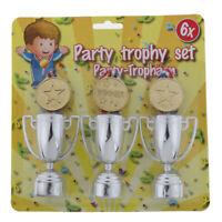 Medallas de ganadores de plástico dorado juguetes de trofeo de fiesta para niños