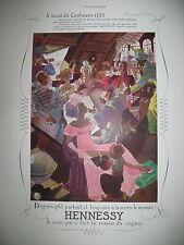 PUBLICITE DE PRESSE HENNESSY COGNAC A BORD DU CENTAURE PAR RAY. BRET-KOCH 1937