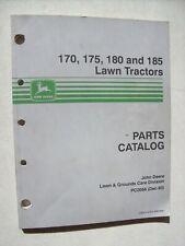 Original John Deere ~ 170 175 180 185 Lawn Tractors ~ Parts Catalog Manual