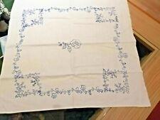 blaudruck Deckchen Rose 50 x 50 cm Home