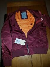 Alpha Industries Ladies MA-1 VF 59 bomber jacket burgundy extra Large XL Bnwt