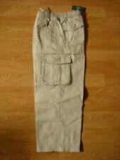 L.L. Bean Khaki Clay Cotton Twill Cargo Elastic Waist Pants 6x/7 NEW NWT