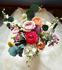 New listing Gorgeous Silk Wedding/Bridal Bouquet w/Free Boutonniere-Forever Keepsake