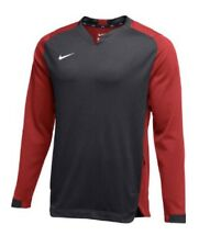 Nike Therma BP Crew Men's Pullover Sweatshirt Red Anthracite $85 AA9774 XL NEW