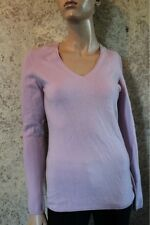 Lady Hathaway 100% Cashmere Pale Purple V-Neck Sweater Small S