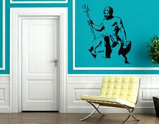 Neptune Statue God of Oceans Seas Wall Decor Mural Vinyl Decal Art Sticker M133