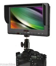 """NEW V2!! Lilliput 7"""" 667 HD Camera HDMI field Monitor +Canon 5D-II LP-E6 adapter"""