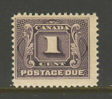 Canada #J1, 1906 1c Postage Due - First Postage Due Series, Unused NH
