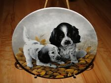 Field Puppies English Setters Puppy Dog Lynn Kaatz Knowels Collection Plate