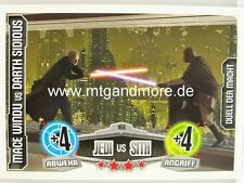 Force Attax Movie Card - Mace Windu vs Darth Sidious #168
