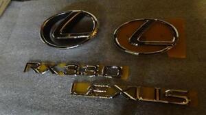 04-06 OEM NEW LEXUS RX330 EMBLEM CHROME KIT 2004 2005 2006 FRONT & REAR