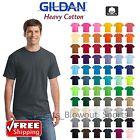 Gildan Heavy Cotton T-Shirts 5.3oz  Blank Solid Mens Short Sleeve Tee S-XL 5000