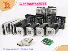 US Free! Wantai 4Axis Nema34 CNC kit motor 1700oz-in single shaft 6A&Driver 7.8A