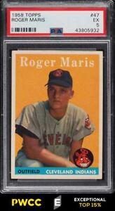 1958 Topps Roger Maris ROOKIE RC #47 PSA 5 EX (PWCC-E)