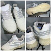 Adidas Sobakov Sz 7 Men White Running Shoes White Worn Once YGI OES-28