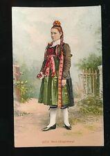 Switzerland BERN Guggisberg Traditional dress fashion costume 1909 PPC