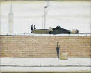 L.S. Lowry Man Lying on a Wal Poster Reproduction Paintings Giclee Canvas Print