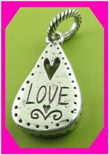 BRIGHTON ABC NOTES LOVE Heart Silver CHARM  Bead New