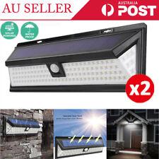 1 PAIR 118LED Solar Sensor Light Motion Detection Security FLOOD Garden Lamp ZZ