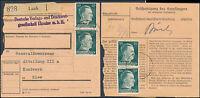 1942 Luzk Ukraine Germany Registered Parcel Receipt Cover to Kiev Kommissar