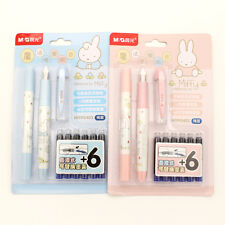miffy cute fountain pen ink cartridge set gift kawaii set of two magical eraser
