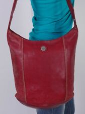 THE SAK Medium Red Leather Shoulder Hobo Tote Satchel Purse Bag
